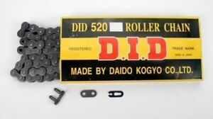 D.I.D 520 STD Standard Series Non O-Ring Chain 114 Links Natural 520 x 520X114RB