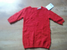Next Baby Girl's Red Star Laine Mélange Robe ÂGe 0-3 Mois BNWT ¥