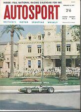 AUTOSPORT FEBBRAIO 10th 1967 * 24 ore di DAYTONA & teretonga Tasman Jim Clark WIN *