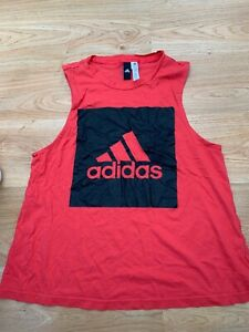 Women's Adidas Tank Top Vest Gym Running Top in Pink UK XL 20-22 / 99p start !