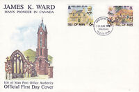IOM 10 JUNE 1978 JAMES K WARD OFFICIAL UNADDRESSED FIRST DAY COVER DOUGLAS FDI a