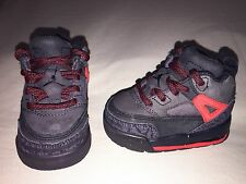 USED JORDAN SPIZIKE INFANT TODDLER SZ 3C BLACK RED MINT CONDITION WINTERIZED