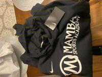 New! Black, Rare, Kobe,  Mamba Sports Academy Hoodie, NIKE! in hand. Size XL