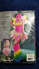 Rainbow Fairy Halloween Costume Adult Tutu Dress Wings Medium