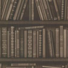 Fine Decor FD21231 Oxford Atheneum Wallpaper. Brown, Multicoloured, Contemporary