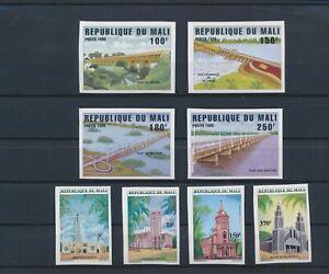 LO16197 Mali imperf churches & bridges fine lot MNH