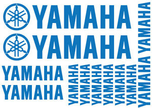 YAMAHA REPLACEMENT DECALS - SET OF 14 VINYL STICKERS / 18 DIFFERENT COLOURS