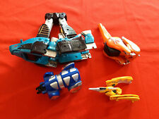 Bundle 4x Figurines Power Rangers Pièces Dino Megazord Mighty Morphin Bandai