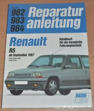 RENAULT R 5 1000 1100 1200 1400 1700 9/1987 Motor Bremse Reparaturanleitung B982