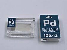 Alfa Aesar Pure Palladium Foil 99.9% 12 x 6 x 0.025 mm in Periodic Element Tile