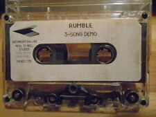 RARE PROMO Rumble DEMO CASSETTE TAPE rock 3 songs UNRELEASED Texas unknown '90s