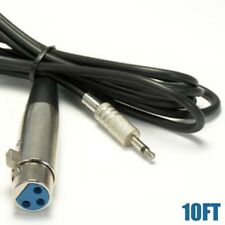 """10FT XLR 3Pin Female to 3.5mm 1/8"""" Male Mono Audio Microphone Cable Mic Speaker"""