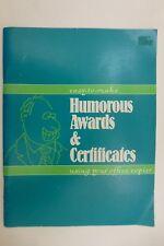 SCAN & PRINT 78 Funny Award Certificates Novelty Joke Gag Gift make Cards & More