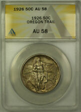 1926 Oregon Trail Commemorative Silver Half Dollar 50c Coin ANACS AU-58