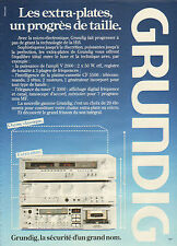 Publicité 1980  Hifi  GRUNDIG  chaine extra plate