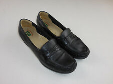 SAS Black Loafer Leather Shoes Heel Tripad Comfort Foot Bed Womans Size 9 N 9N