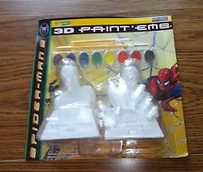 Crayola Spiderman 3 D Paint Ems Doc Ock and Spidey– Brand New