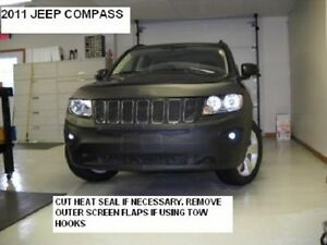 Lebra Front End Mask Cover Bra Fits 2011-2017 JEEP Compass