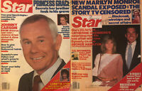 Marilyn Monroe Johnny Carson 1985 Star Gossip Magazine Lot of 2 George Hamilton
