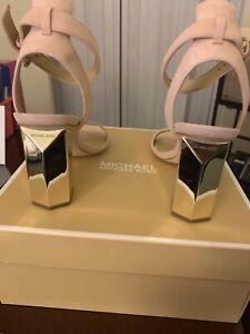Michael Kors Sandals 6.5 light mauve with silver heal