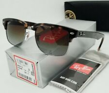 """RAY BAN tortoise/brown POLARIZED """"CLUBMASTER SQUARE"""" RB4190 878/M2 sunglasses"""