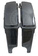 "Mutazu 4"" Extended Hard Bags Black Pearl for Harley Road King Street Glide FLHT"
