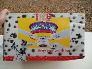 "New 101 Dalmations 44"" Disney Ceiling Fan No. 04120 "" Sleepy Dogs "" Open Box"