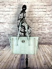 Gorgeous Bebe Sea Green Tote Large Purse Bag With Gold Accents
