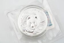 2003 China Silver Panda 1 oz .999 UNC Frosted Bamboo Double Mint Sealed KM#1466