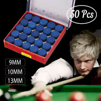 50PCS 9MM/10MM/13MM Cue Tips for Pool Cue Snooker Billiard Durable Accessories