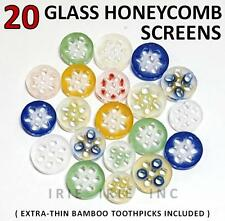 20 GLASS HONEYCOMB SCREENS: filter for slide bowl vape smoke [ FREE SHIPPING ]