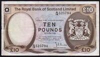 1979 ROYAL BANK OF SCOTLAND LIMITED £10 BANKNOTE * A/18 525794 * aVF *