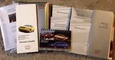 1998 AUDI A4 OWNERS MANUAL WITH CASE AND ADDITIONAL LITERATURE