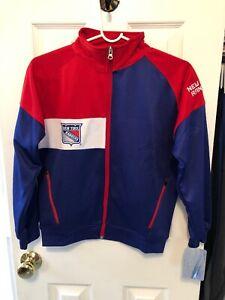 New York Rangers Majestic 100% Polyester Youth Zip Up Jacket Medium