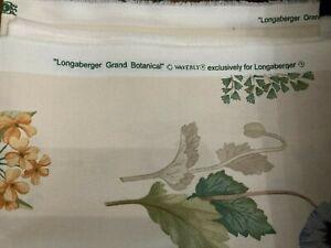 "LONGABERGER  GRAND BOTANICAL  FABRIC  - 1 YARD LONG BY 54"" W- NEW I"