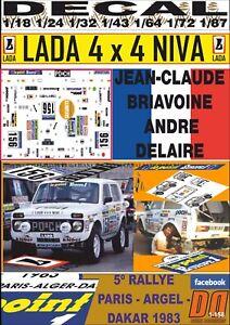 DECAL LADA NIVA 4x4 JEAN-CLAUDE BRIAVOINE PARIS DAKAR 1983 (09)