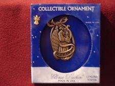 "Gloria Duchin Genuine Pewter Collectible Christmas Ornament ""Peace"" NIB"