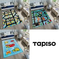 New Children's Blue Rug Road Map City Cars Play Rugs Kid's Boys Play Toy Nursery