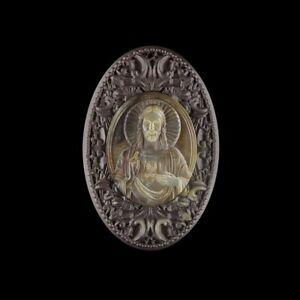 Carved Jesus MOP Designer Bead GK000187