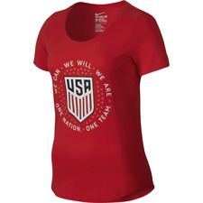 NWT NIKE USA Soccer Womens National Team Crest Pride T-Shirt 838234 Red M USWNT