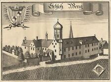 Schloß Weng (Wörth/Isar).- Kupferstich/Wening, 1723