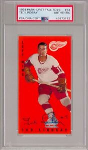 Ted Lindsay Red Wings Signed Autograph 1994 Parkhurst Tall Boys #64 PSA DNA