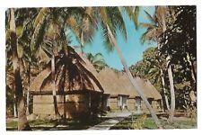 c. 1950s Chrome Postcard ~ BURE ACCOMODATION AT KOROLEVU, FIJI