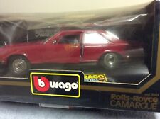 1:22 Burago Rolls Royce Camargue Red Mint Boxed Never Displayed SEALED