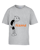 Personalised kids DIARY OF A WIMPY KID book t-shirt top clothing THE LONG HAUL