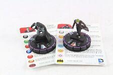 Heroclix DC Arkham Origins Joker and Batman 001 & 002