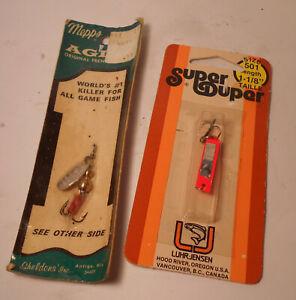 Mepps Aglia #0 & Super Duper 501 - LOT of 2 Vintage Fishing Lure Spinner France