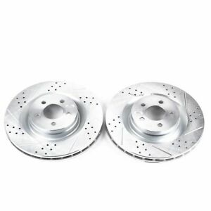 PowerStop for 05-10 Chrysler 300 Front Evolution Drilled & Slotted Rotors - Pair