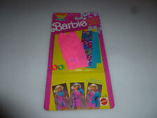 NEW ON CARD BARBIE FASHION WRAPS SET 2934 MATTEL 1991 PINK DRESS SCARF BRACELETS