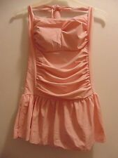 Sports fashion size XL pastel pink one piece bathing suit halter style feminine